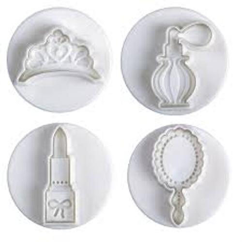 Tiara, Lipstick Perfume and Mirror   Plunger Set