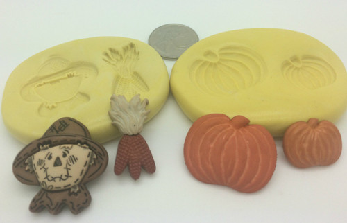 Scarecrow Corn and  Pumpkin Mold Set