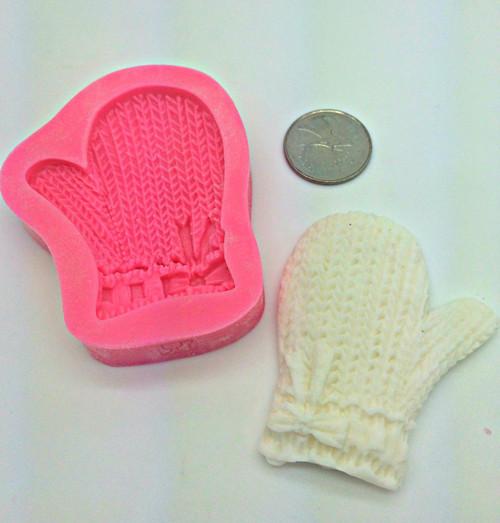 Winter Mitten Glove  Silicone  Mold