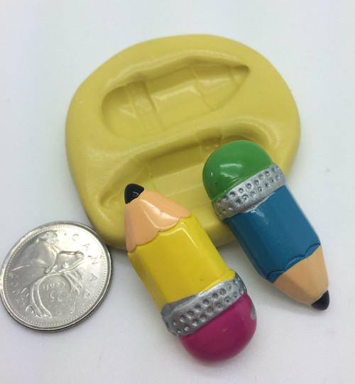 Pencil Set School Silicone Mold