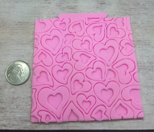 Impression Heart Silicone Mold Mat -pm110