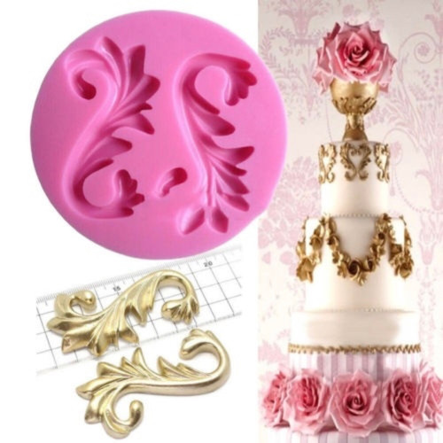 2pc Large Scroll Set Silicone Mold- P186