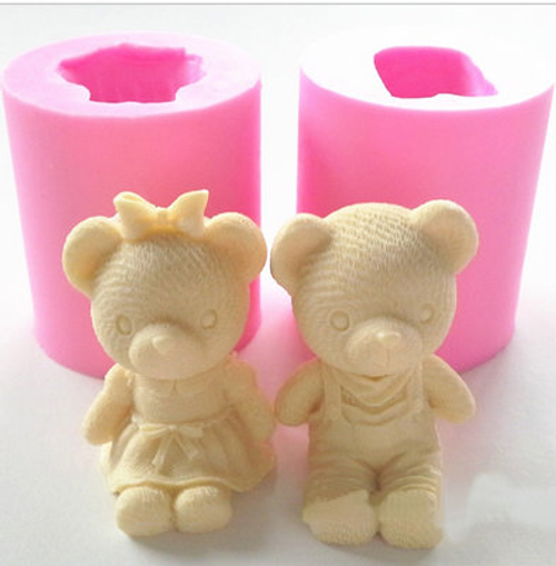 3d Small Bear Set Silicone Mold