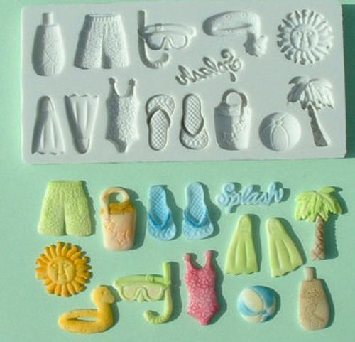 Beach Theme Silicone Mold Set