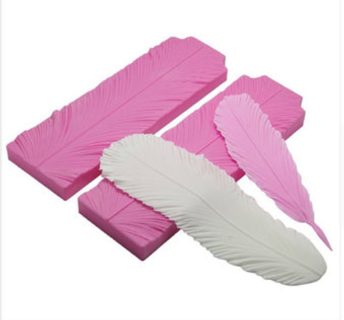 Feather Vainer impression  silicone Mold 2pc set PM225