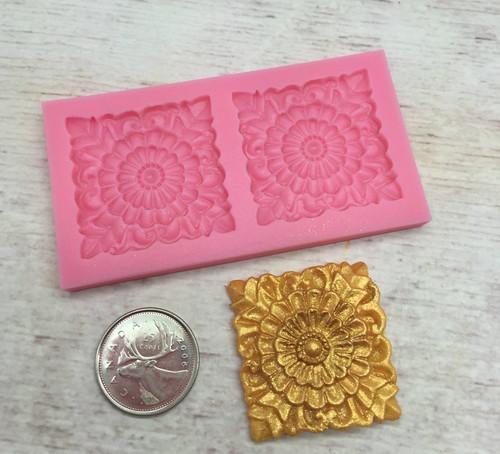 Decorative Square Silicone Mold