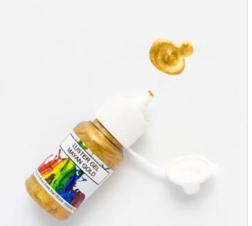 ROLKEM GEL LUSTRE PAINT MAYAN GOLD (15ML)