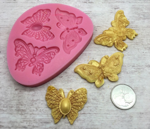 Butterfly 3pc Silicone Mold Set- PM177