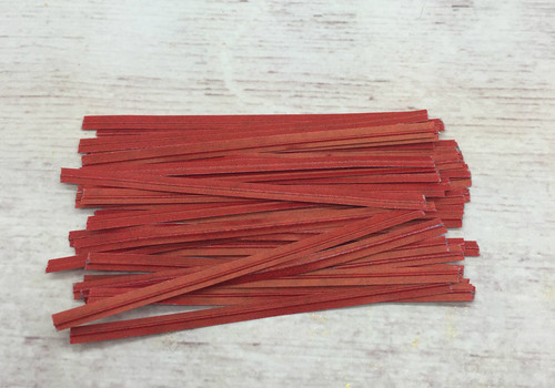 Red Twist Tie  100pc