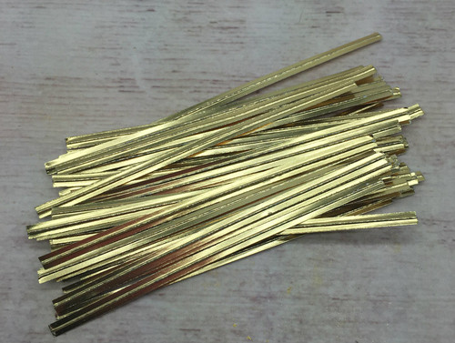 "Gold Metalic 3.5""  Twist Tie  50pc"