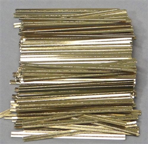 "Gold  Metalic 4""  Twist Tie  50pc"