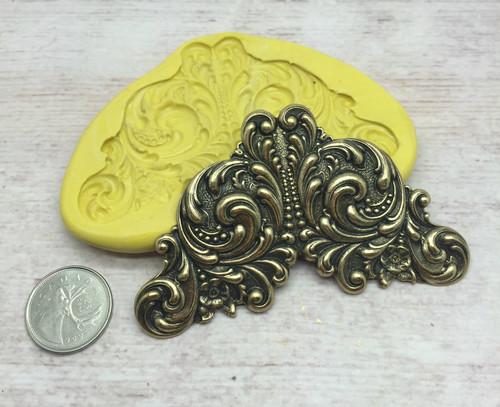 Art Nouveau Scroll Mold Silicone
