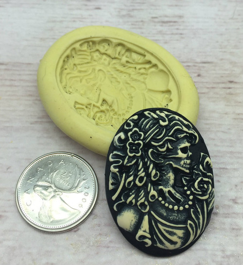 Scary Women Cameo  Mold Silicone