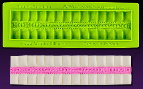 """""""Pretty in Pleats"""" - Silicone Cake Border Marvelous Molds"""