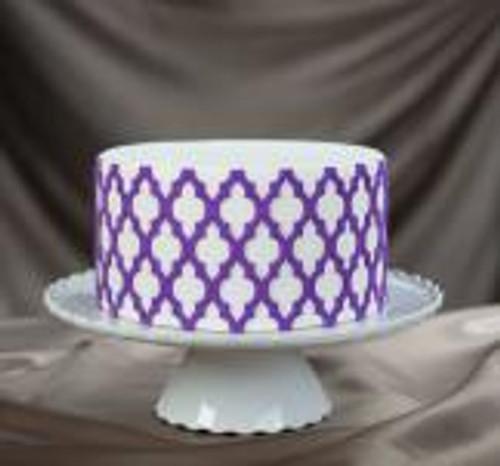 Moroccan Lattice Silicone Onlay® Marvelous Molds