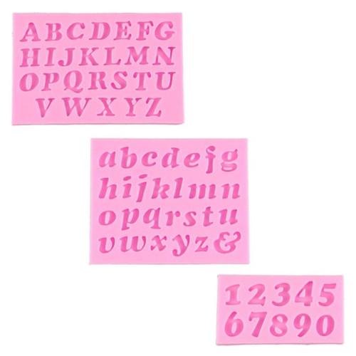 Alphabet & Numbers Mini Mold PM411