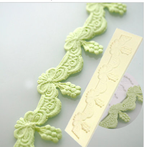 Lace Border  Fancy  Silicone Mold - PM228