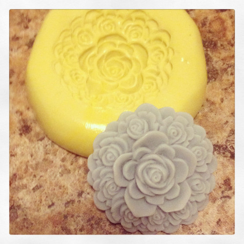 Rose Raised Flower Mold Silicone