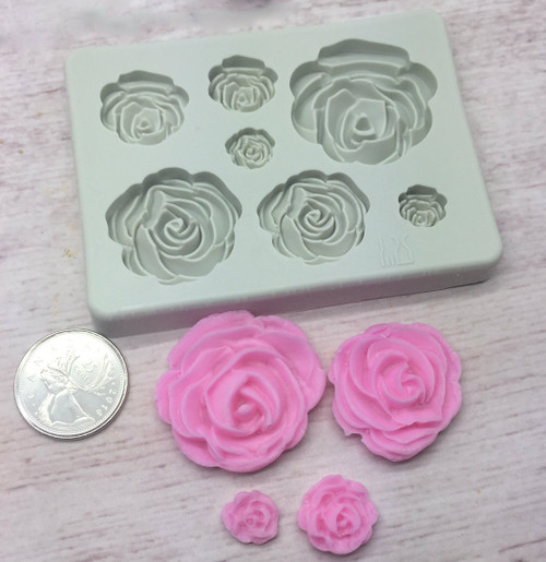 Flower assorted  Size silicone mold
