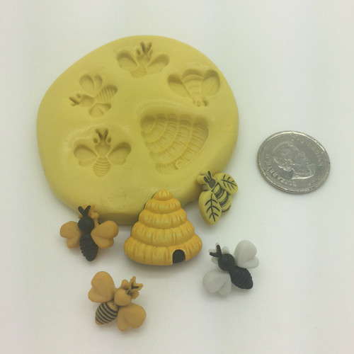 Bee honey comb Small  Silicone Mold Set