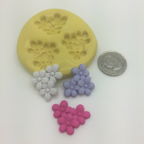 Flower Bunch daisy  Small  Silicone Mold Set