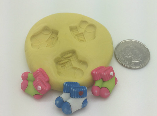 Baby Socks  Silicone Mold Set