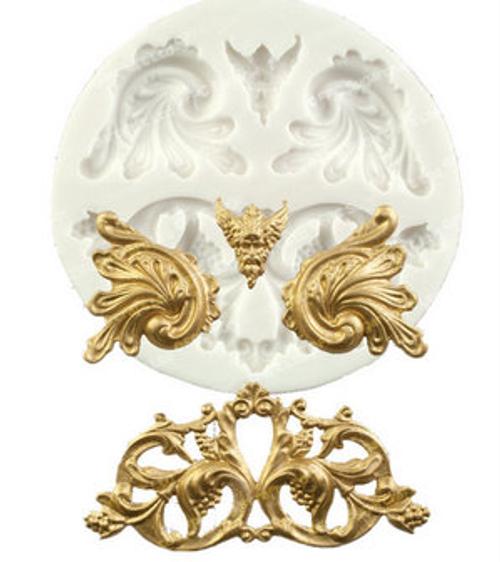 Scroll decorative Mold -P309