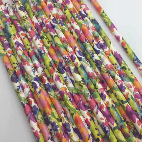 Water color Flower  Paper Straws   25PC