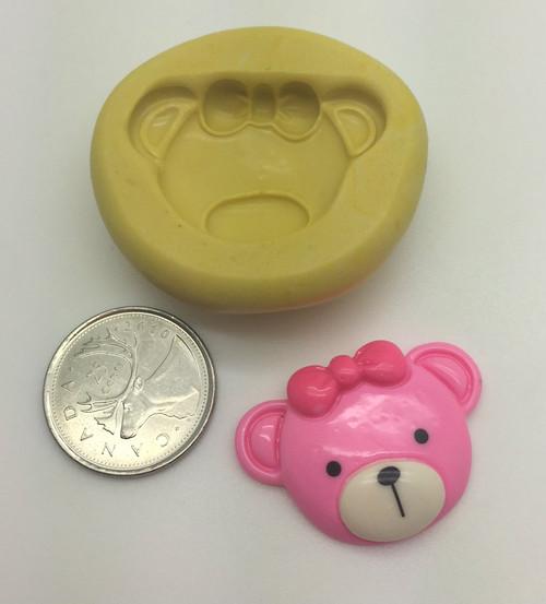 Teddy bear Face  Silicone Mold