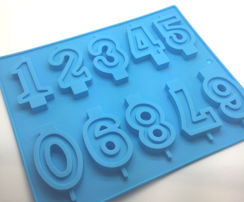 Number Large Candle Silicone Mold