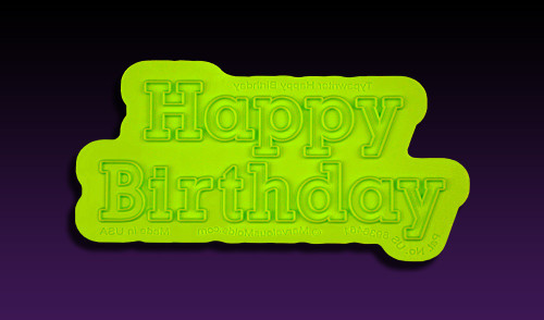 "Typewriter ""Happy Birthday"" Flexabet Letters by Marvelous Molds"
