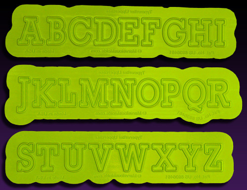 Typewriter Uppercase Flexabet Letters by Marvelous Molds