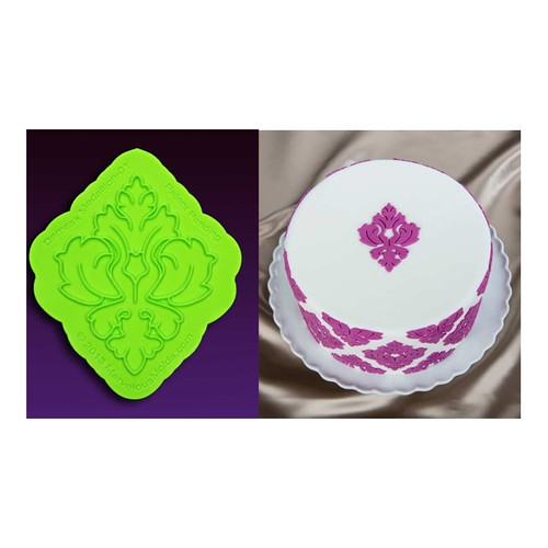 Damask Medallion Silicone Onlay