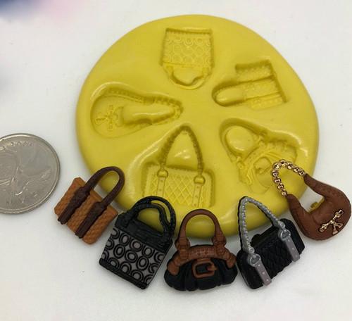 Mini Purse Handbag Mold Set Silicone