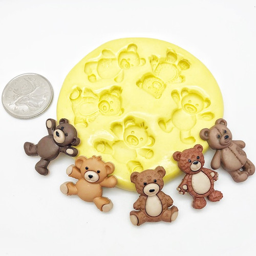 Teddy Bear Mold Set Silicone