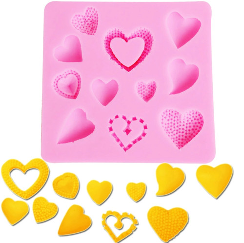 Heart Set Silicone Mold PM261
