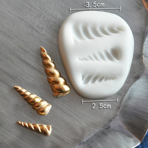 Unicorn Horn Small  Silicone Mold  Set