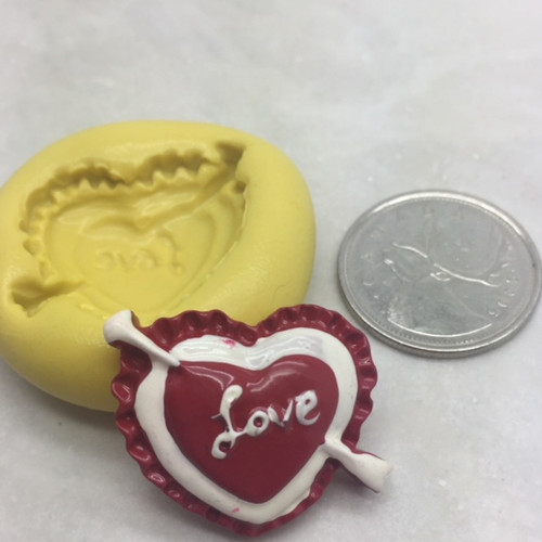 Love  Heart with Arrow Silicone Mold