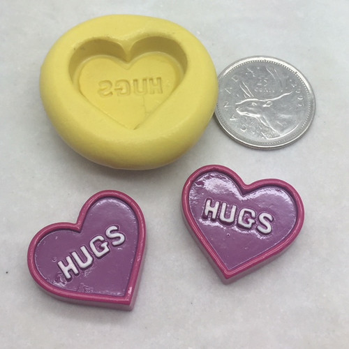 "Heart Conversation ""Hugs"" Silicone Mold"