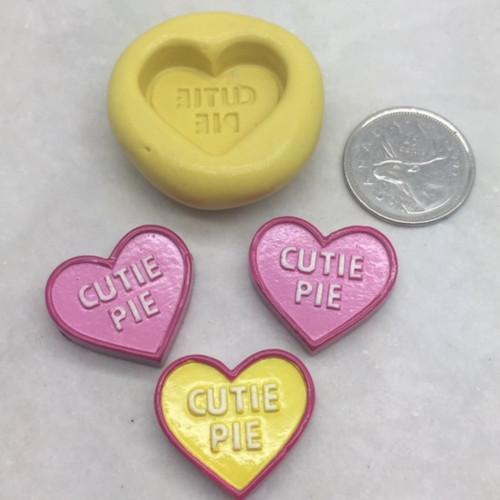 "Heart Conversation ""Cutie Pie"" Silicone Mold"