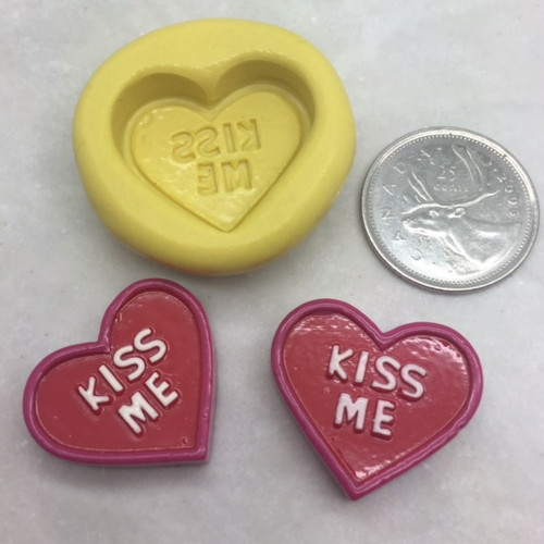 "Conversation ""Kiss Me""  Silicone Mold"