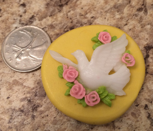 Dove with Flower Mold Silicone