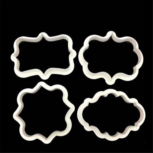 Plaque fondant cookie Cutter Set