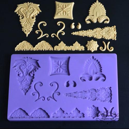 Decorative accents Silicone Mold -pm132