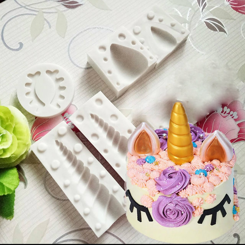 Unicorn Cake Set Horn ears and eyelashes