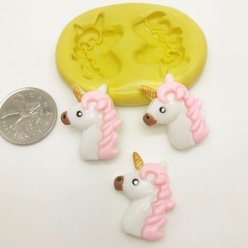 Unicorn Face Silicone Mold (1)