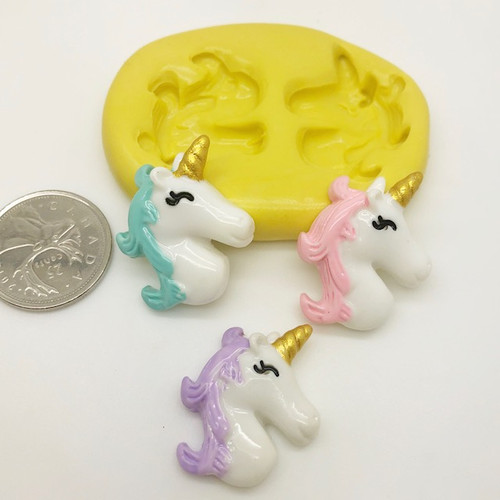 Unicorn Face Silicone Mold (3)