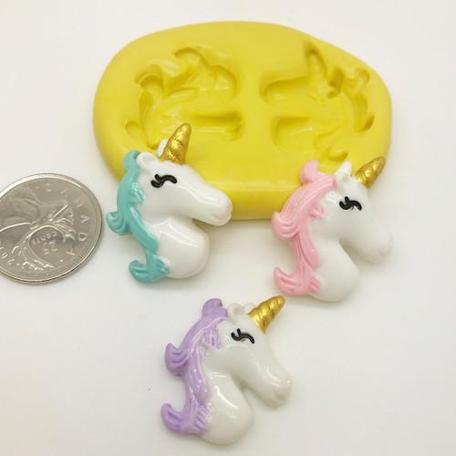 Unicorn Face Silicone Mold (3)