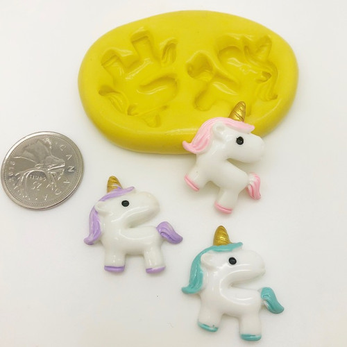 Unicorn Face Silicone Mold (4)