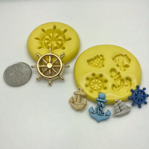 Ship anchor Wheel Mold Set  Silicone
